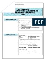 Diplomado Autoevaluacion Calidad Educativa2018 UMCH