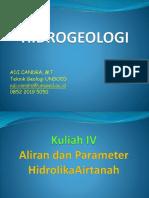 Bab IV Parameter Hidrolika Airtanah