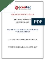 OscarRodriguez 31121727 Tarea-09 Produccion y Costos