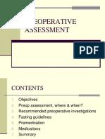 #1 Pre Op Assessment