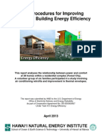 Audit Procedures for Improving Residential Building Energy Efficiency - HNEI