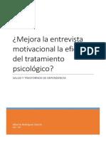 Mejora La Entrevista Motivacional La Eficacia Del Tratamiento Psicológico