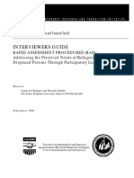 Interviewers Guide to Rapid Assessment Procedures(RAP)- Addressing the Perc