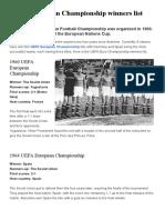 UEFA European Championship Winners List _ Football Bible