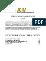 JGIM Instructions for Authors (April 2017)