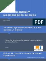 Frases Para Análisis y Recomendación de Grupo