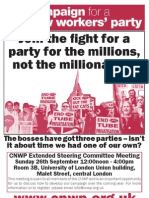 Campaign for a New Workers' Party meeting