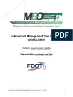 Subcontract Management Plan Template