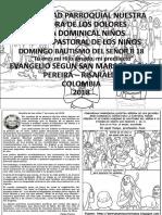 HOJITA EVANGELIO NIÑOS DOMINGO EL BAUTISMO DEL SEÑOR B 18 Bn