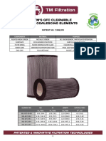 GFC Coalescing Filter Element Cutsheet
