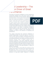 Primal Leadership – the Hidden Driver of Great Performance