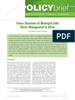 No. 81. Future Directions of Municipal Solid Waste Management in Africa