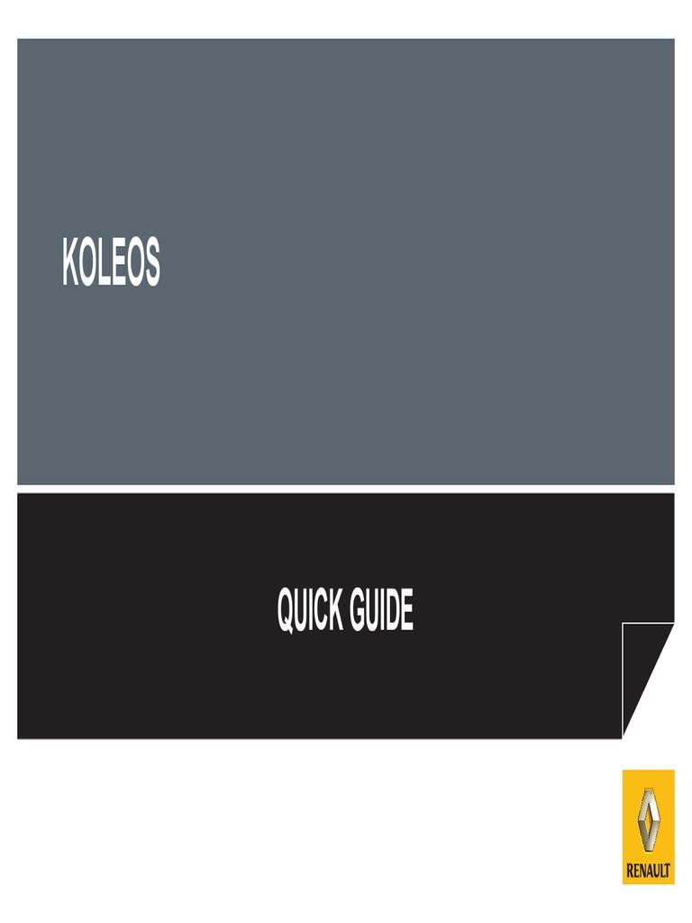 Array - koleos quick guide   manual transmission   automatic      rh   scribd com