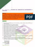Objetivos y Funciones Del Supervisor de Mantenimiento