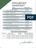 Academic Assessment Sechedule 0518