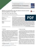 Maxillary Arch Distalization Using Interradicular Miniscrews and the Lever-Arm Appliance
