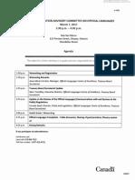 Documents se rapportant aux activités du Comité consultatif des sociétés d'État sur les langues officielles