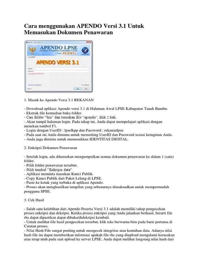 Cara Menggunakan APENDO Versi 3 (Penyedia)