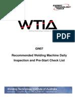 GN07 MMAW Daily Checklist