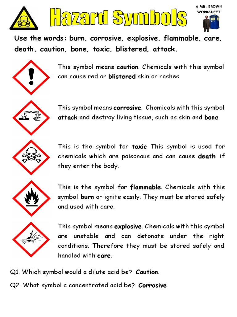 Hazard symbols answers db buycottarizona Image collections