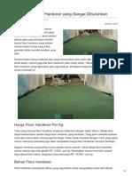 Kegunaan Floor Hardener yang Sangat Dibutuhkan—☎ 0821 1372 4737