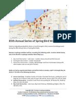 85th Annual Series of Spring Bird Walks 2018 Announcement
