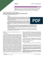 Articaine Buccal Infiltration Versus Lidocaine Inferior Alveolar Nerve Block 2155 6148.1000434
