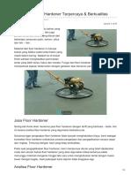 Distributor Floor Hardener Terpercaya & Berkualitas -☎ 0821 1372 4737