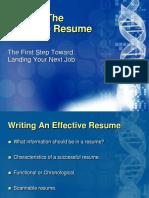 Write an Effective Resume