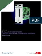 2VAA001810 en S Control SPCIS22 SPQRS22 Control I O Module and Quick Response I O Module