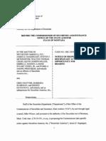 State of Montana v Securities America