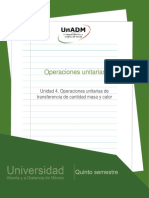 Unidad 4. Operaciones unitarias de transferencia de masa y calor