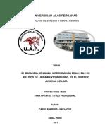 Trabajo Universitario Proyecto de Tesis - Uni. Alas Peruanas