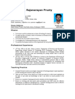 Resume of b. Rajanarayan Prusty
