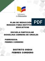 PLAN DE REDUCCIÓN DE RIESGOS ESCUELA PARTICULAR CANTÓN CHILLA - ACTUALIZADO (1).docx