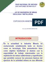 Mineria Subterranea y SuperficialExposicion FIMGM