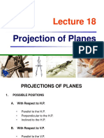 Projection of Planes Engineering Drawing and Graphics Lecture Slides