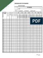 Testing Monitoring Sheet