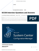SCCM Interview Questions and Answers