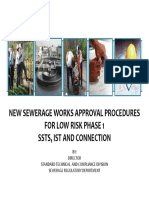 NEW SEWERAGE WORKS APPROVAL PROCEDURES FOR LOW RISK