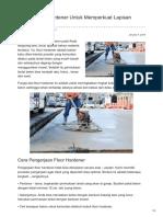 Kisepoxy.id-fungsi Floor Hardener Untuk Memperkuat Lapisan Beton