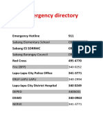 Emergency Directory
