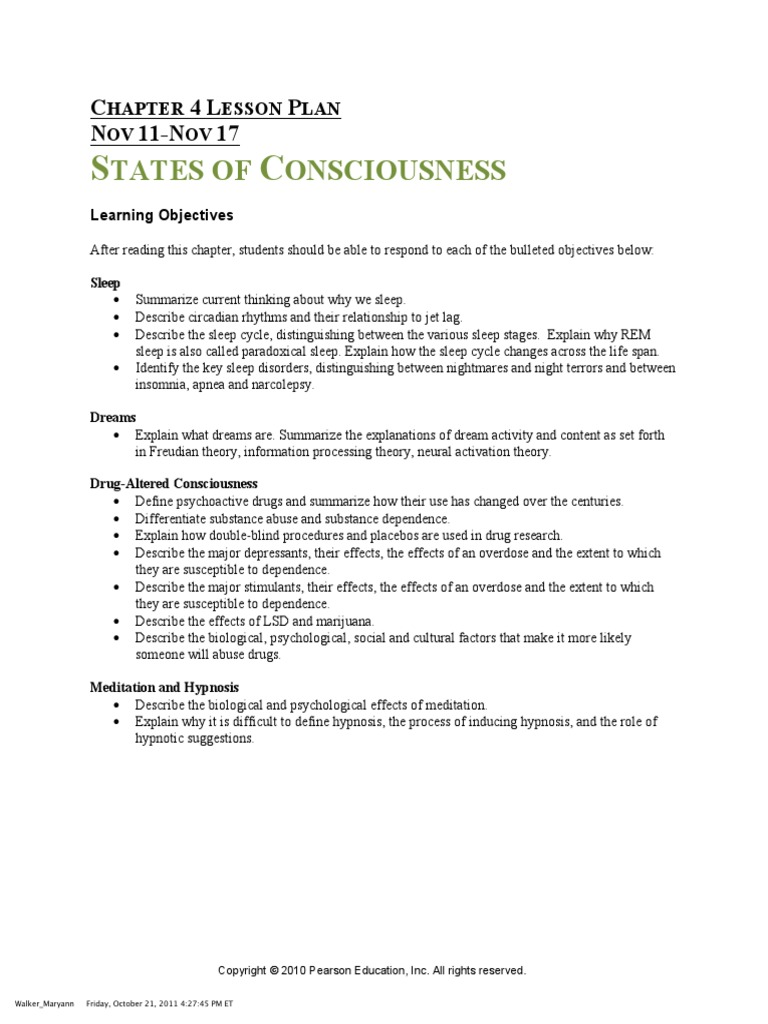 chapter 4.consciousness | sleep | science