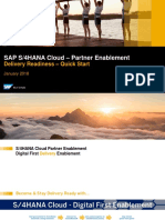 S4HANA Cloud Partner Delivery Readiness - Quick Start 1.1