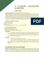 Pengertian Statistik Parametrik Dan Non Parametrik