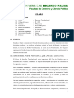 FDCP Derecho Constitucional I 2016