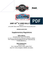 MRF 43rd K-1000 Rally 2017_Supplementary Regulations