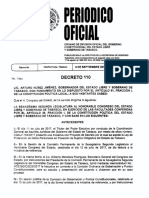 Publicación en El Periódico Oficial de La Ley de Protección de Datos Personales en Posesión de Sujetos Obligados Del Estado de Tabasco