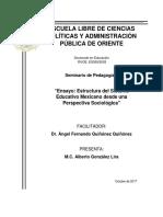 Ensayo Estructura Del Sistema Educativo Mexicano