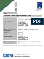 ETA - 110030 - Rotho Blaas HBS Screws